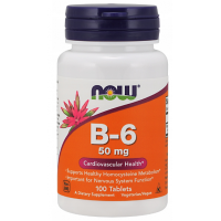 Witamina B6 50 mg (100 tabl.) NOW Foods