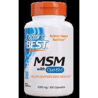 Siarka MSM 1000 mg - OptiMSM Metylosulfonylometan (360 kaps.) Doctor's Best
