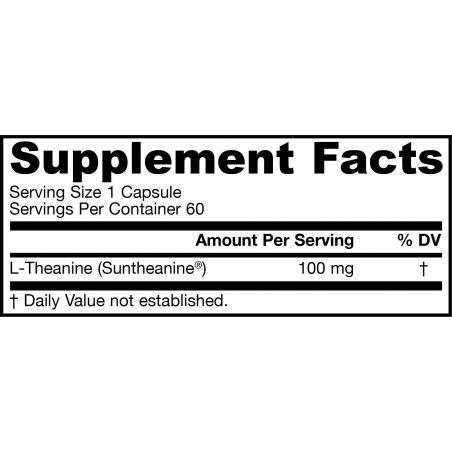 L-Teanina 100 mg - Suntheanine (60 kaps.) Jarrow Formulas