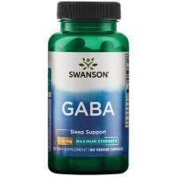 GABA Forte - Kwas Gamma Aminomasłowy 750 mg (60 kaps.) Swanson