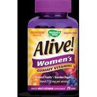 Alive! Women's Gummy Vitamins - Multiwitamina i Składniki Mineralne dla Kobiet (75 żelków) Nature's Way