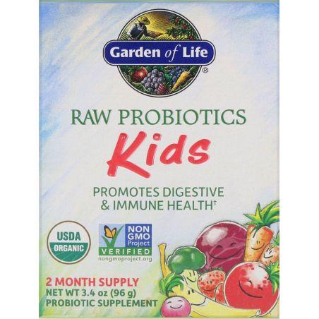BIO Probiotyk dla Dzieci - Raw Probiotics Kids (96 g) Garden of Life