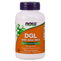 DGL with Aloe Vera - Korzeń Lukrecji 400 mg + Aloe Vera (100 kaps.) NOW Foods