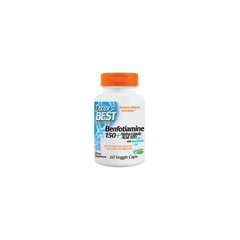 Benfotiamina 150 mg + Kwas Alfa-Liponowy i L-Leucyna (60 kaps.) Doctor's Best