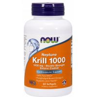 Olej z Kryla 1000 mg - Neptun Krill Oil DHA EPA (60 kaps.) NOW Foods
