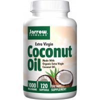 BIO Coconut Oil Extra Virgin - Olej Kokosowy 1000 mg (120 kaps.) Jarrow Formulas