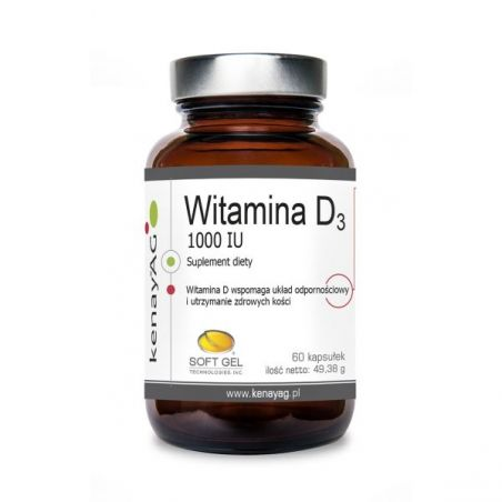 Witamina D3 1000 IU (60 kaps.) Soft Gel
