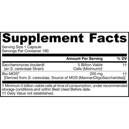 Probiotyk Saccharomyces Boulardii + MOS (180 kaps.) Jarrow Formulas