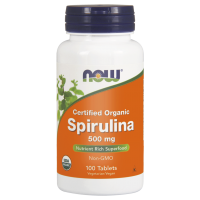 BIO Spirulina 500 mg (100 tabl.) NOW Foods