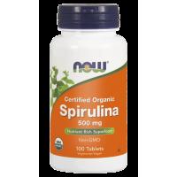 BIO Spirulina 500 mg (100 tabl.) NOW Foods