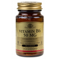 Witamina B6 HCl Pirydoksyna 50 mg (100 tabl.) Solgar