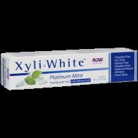 Pasta do zębów miętowa - XyliWhite Platinum Mint Toothpaste Gel with Baking Soda (181 g) NOW Foods