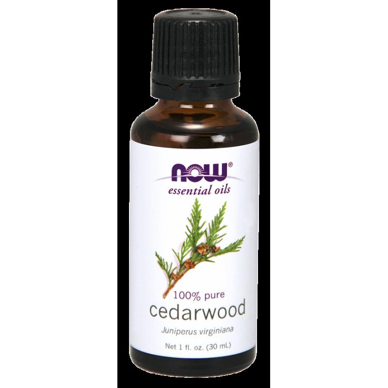 100% Olejek Cedrowy - Drzewo Cedrowe (30 ml) NOW Foods