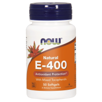 Witamina E 400 IU (50 kaps.) NOW Foods