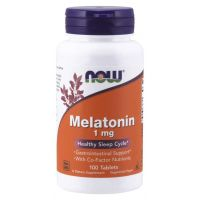 Melatonina 1 mg + Niacyna + Magnez + Witamina B6 (100 tabl.) NOW Foods