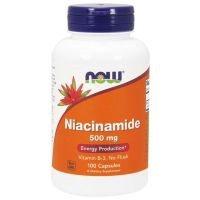 Witamina B3 - Niacyna (Niacinamide) 500 mg (100 kaps.) NOW Foods
