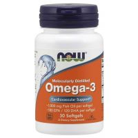 Omega 3 - DHA 120 mg + EPA 180 mg (30 kaps.) NOW Foods