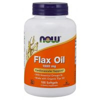 Flax Oil 1000 mg - Olej lniany (100 kaps.) NOW Foods