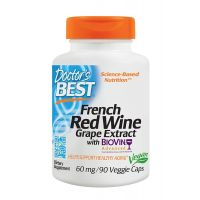 French Red Wine - Francuskie Czerwone Wino ekstrakt BioVin 60 mg (90 kaps.) Doctor's Best