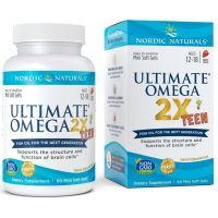 Ultimate Omega 2X Teen - Omega 3 560 mg dla Dzieci i Młodzieży (60 kaps.) Nordic Naturals
