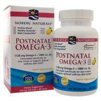 Postnatal Omega-3 - Omega 3 560 mg + Witamina D3 1000 IU (60 kaps.) Nordic Naturals