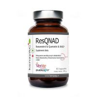 ResQNAD - trans-Resweratrol + fitosomowa Kwercetyna + NAD (60 kaps.) Kenay
