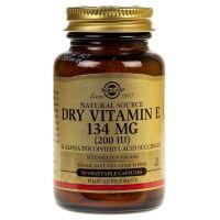Vitamin E Dry - Witamina E 200 IU sucha  (50 kaps.) Solgar