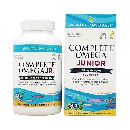 Complete Omega Junior 283 mg + GLA 35 mg (180 kaps.) Nordic Naturals