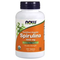 BIO Spirulina 1000 mg (120 tabl.) NOW Foods