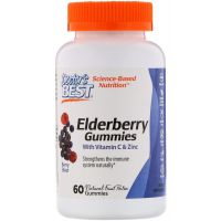 Elderberry Gummies - Czarny Bez + Witamina C + Cynk (60 żelek) Doctor's Best