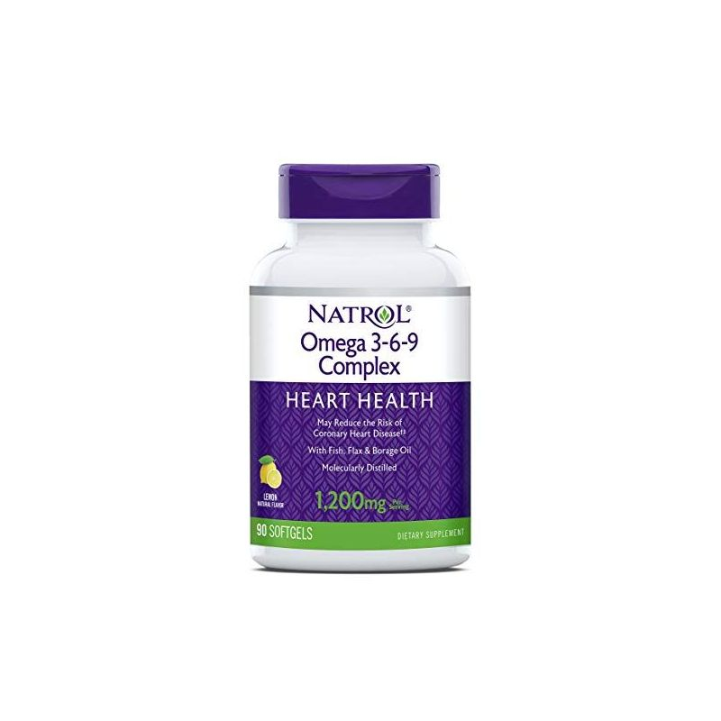 Omega 3-6-9 Complex - Olej z Ogórecznika Olej Lniany GLA EPA DHA (90 kaps.) Natrol