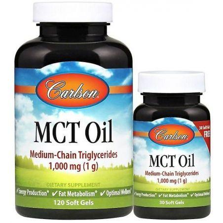 MCT Oil - Olej MCT 1000 mg (120 + 30 kaps.) Carlson