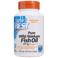 Pure Wild Alaskan Fish Oil with AlaskOmega 1000 mg - Omega 3 z Alaski + EPA + DHA (180 kaps.) Doctor's Best