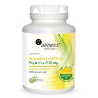 Bromelaina 2500 GDU 500 mg + Papaina 6000 USP 200 mg (100 kaps.) Aliness