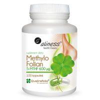 Folian 5-MTHF - aktywny Kwas Foliowy Quatrefolic 600 mcg (100 kaps.) Aliness