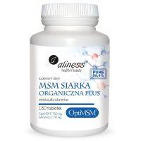 Siarka MSM 750 mg + Witamina C - OptiMSM Metylosulfonylometan (180 tabl.) Aliness