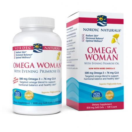 Omega Woman - Omega 3 + GLA o smaku cytrynowym (120 kaps.) Nordic Naturals