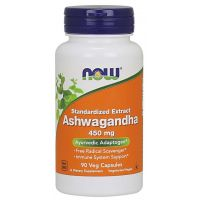 Ashwagandha 450 mg - Witanolidy 2,5% (90 kaps.) NOW Foods