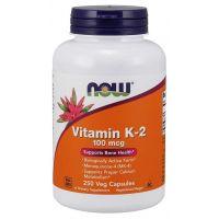 Witamina K2 MK4 100 mcg i Lucerna (250 kaps.) NOW Foods