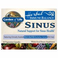 Herbal Immune Balance Sinus - Zdrowe Zatoki (30 kaps.) Garden of Life