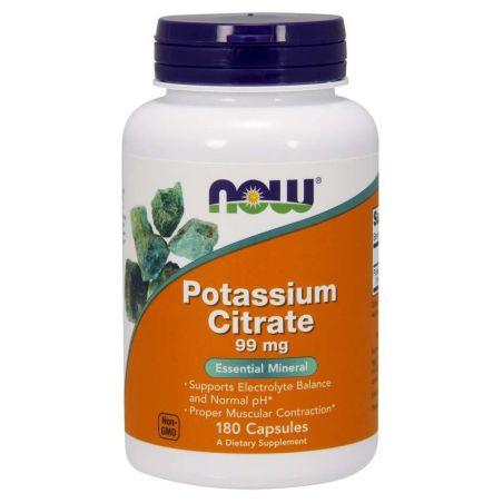 Potassium Citrate - Cytrynian Potasu 99 mg (180 kaps.) NOW Foods