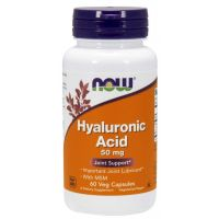Hyauluronic Acid with MSM - Kwas Hialuronowy 50 mg + MSM 450 mg (60 kaps.) NOW Foods