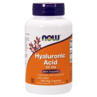 Hyauluronic Acid with MSM - Kwas Hialuronowy 50 mg + MSM 450 mg (120 kaps.) NOW Foods