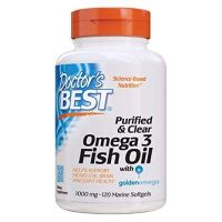 Purified & Clear Omega 3 Fish Oil 1000 mg - Omega 3 + EPA + DHA (120 kaps.) Doctor's Best