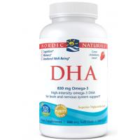 DHA Omega 3 415 mg - Olej rybi o smaku truskawkowym (180 kaps.) Nordic Naturals