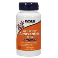 Naturalna Astaksantyna 10 mg (60 kaps.) NOW Foods