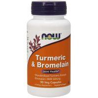 Turmeric & Bromelain - Kurkuma 300 mg + Bromelaina 150 mg (90 kaps.) NOW Foods