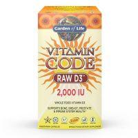 Vitamin Code RAW D3 - Witamina D3 2000 IU (120 kaps.) Garden of Life