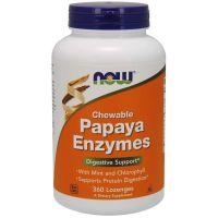 Enzym Papaina 2000 USP - Papaya Enzymes (360 tabl.) NOW Foods