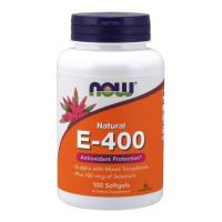 Witamina E 400 IU + Selen 100 mcg (50 kaps.) NOW Foods